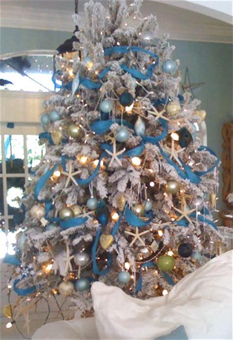 coastal christmas holiday trees inspired   sea