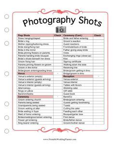 1000+ ideas about wedding photography checklist on