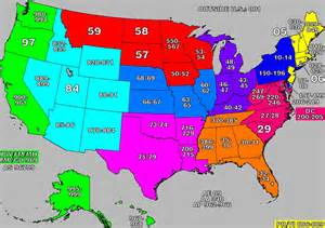 zip code map of us zip codes map united states