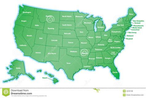united states united states map royalty free stock photos image 4245108