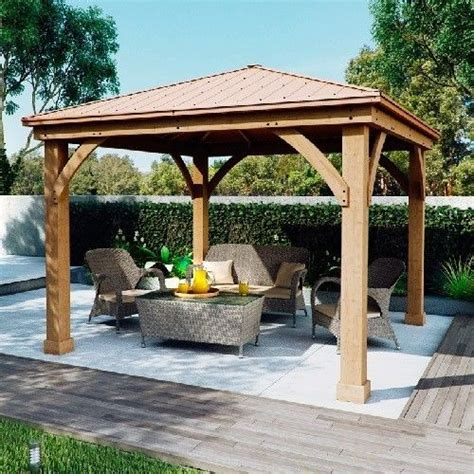 garden pergola with roof outdoor gazebo pergola garden patio shade cedar wood aluminium solid roof canopy patio shade