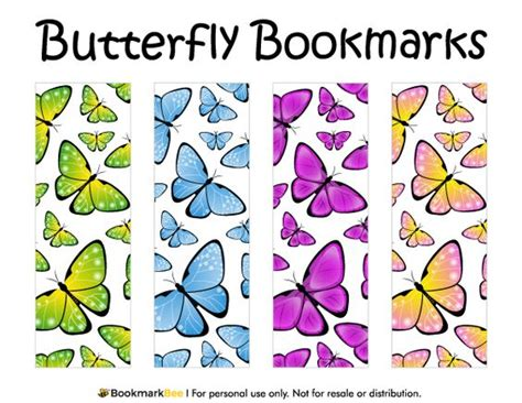 printable butterfly bookmarks printable butterfly butterflies and free printable on