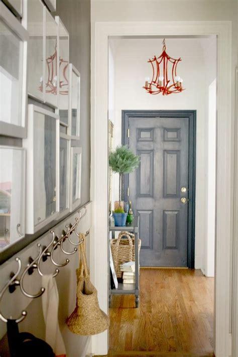 image gallery small entryway decorating a small entryway navy door orange bamboo