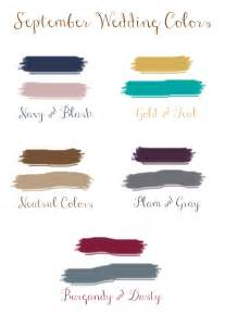 september wedding colors september wedding colors
