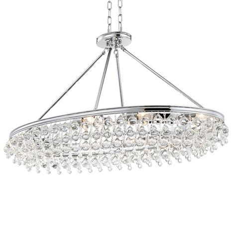 crystorama calypso chandelier crystorama crystorama calypso 8 light teardrop chrome oval chandelier