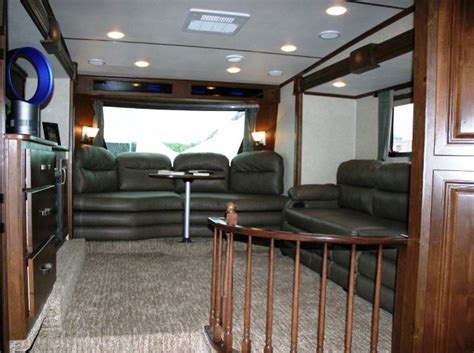 front living room fifth wheels 2013 rushmore 39ln lincoln front living room five slide