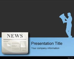 presentation and layout of web newspaper breaking news powerpoint template