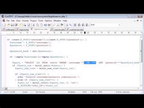 tutorial php injection beginner php tutorial 143 protecting the user against