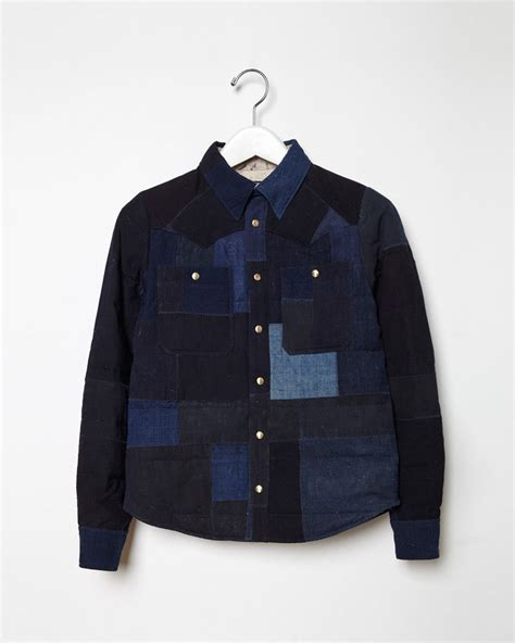 Patchwork Denim Jacket - visvim patchwork denim jacket in blue lyst