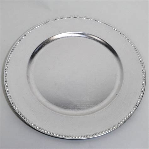 silver beaded charger plates silver beaded charger plate 13 inch on sale from