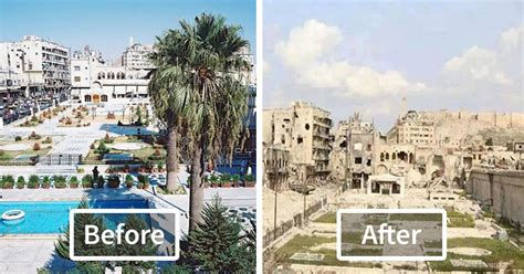 syria before and after 10 before and after pics reveal what war did to the