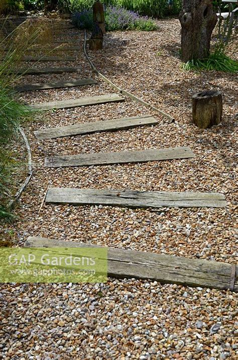 Railway Sleepers Norfolk by Gap Gardens Shingle Pathway Path Designed With Recliamed