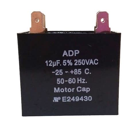 12uf run capacitor 12uf 250vac motor run capacitor adp250c126j west florida components