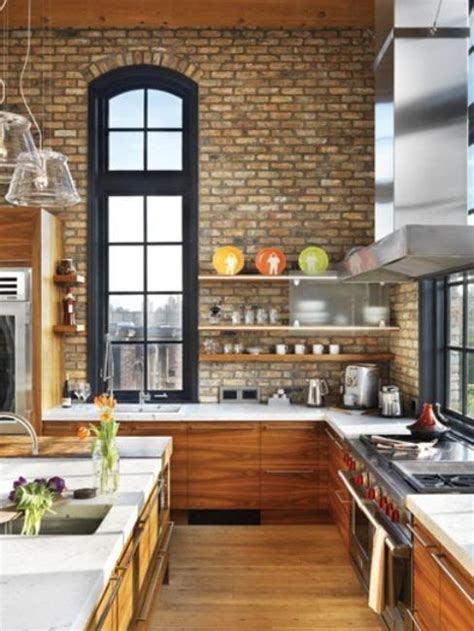 brick kitchens 25 exposed brick wall designs defining one of latest trends in modern kitchens