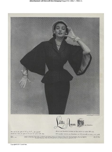 classic old fashioned lilli ann suit 1950s vogue ad lilli ann vintage ad s