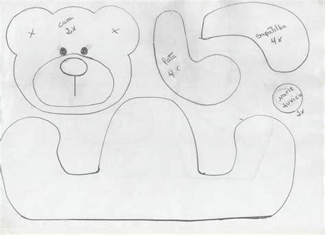 felt worm pattern molde de ursinho sentado animais moldes e v a