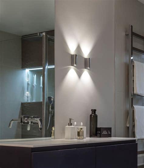 bathroom lighting up or down polished chrome led bathroom wall light
