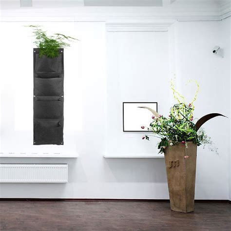 Decorative Indoor Hanging Planters by Decorative Indoor Wall Mounted Fabric Polyester Hanging 4