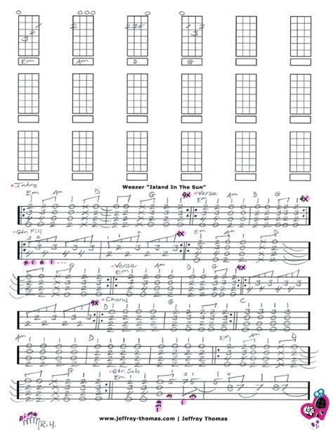 ukulele tutorial island in the sun weezer island in the sun free ukulele tab by jeffrey thomas