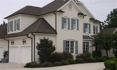 brick house siding exterior window trim painted houses with brick and siding tan brown brick house