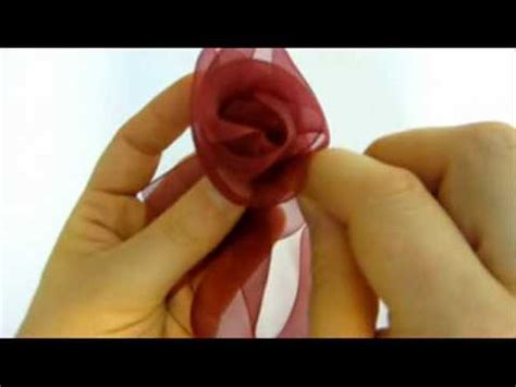 tutorial rose in organza ribbon flowers how to make beautiful organza ribbon