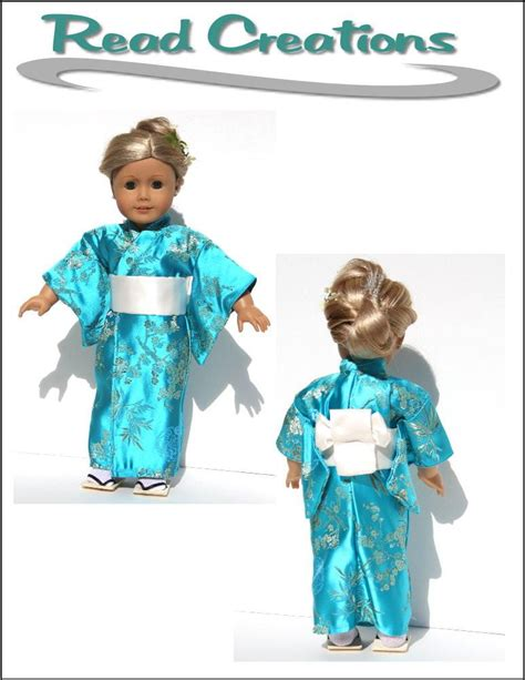 kimono pattern for 18 doll read creations kimono and bathrobe 18 inch doll clothes