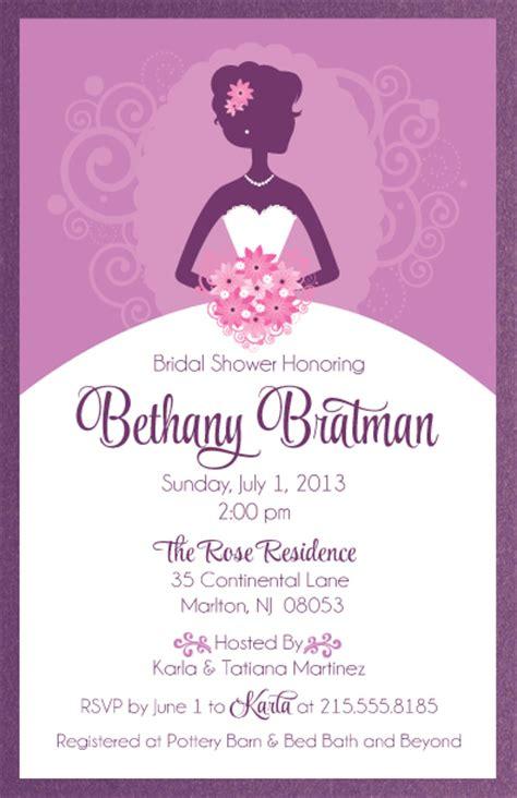 bridal shower invitation wedding gown wedding dress bridal invitation