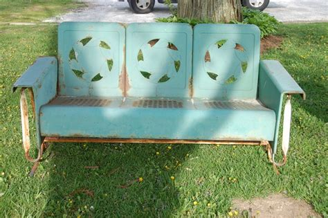 vintage metal glider bench our life on the hill vintage metal glider bench