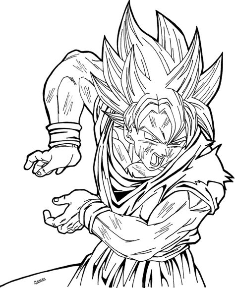 goku super saiyan coloring pages az coloring pages