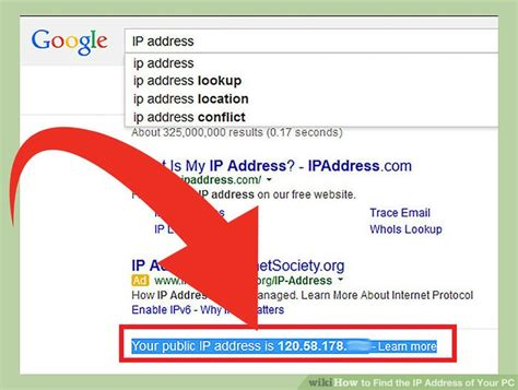 Yahoo Ip Address Lookup 6 Ways To Find The Ip Address Of Your Pc Wikihow
