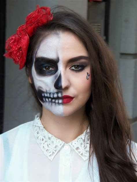 17 pretty makeup looks to try in 2016 allure cute half skull makeup www imgkid com the image kid