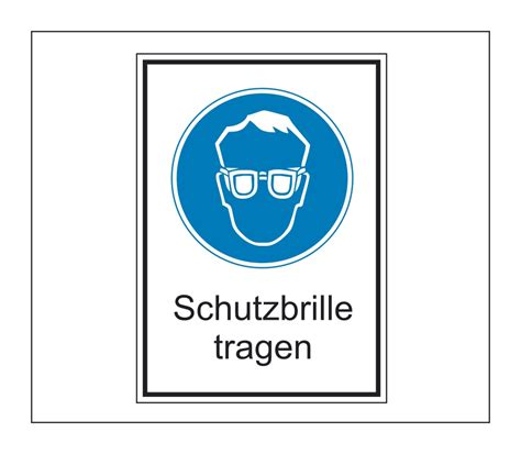 Gefahren Aufkleber by Hinweis Schild Gefahrenaufkleber Schutzbrille