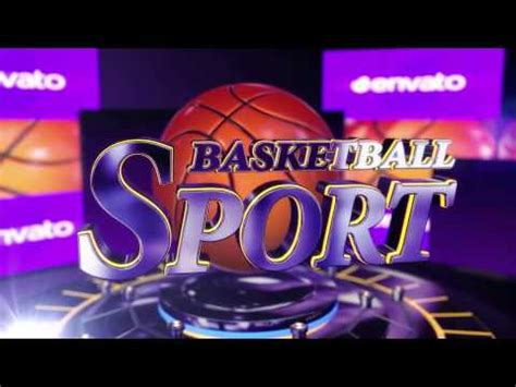 Opener Sport Basketball Tv After Effects Template Youtube Basketball After Effects Template
