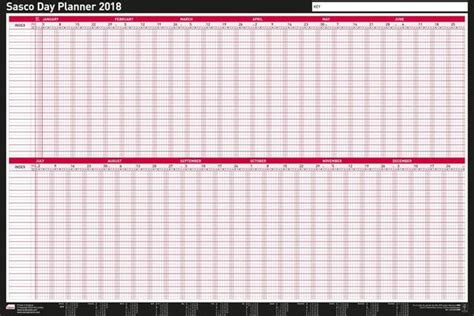 printable holiday wall planner sasco unmounted year planner 2018 sasco planners