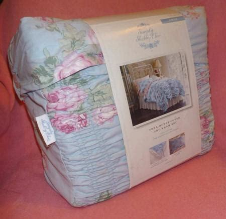 rachel ashwell simply shabby chic twin duvet cabbage rose ruched blue cottage ebay