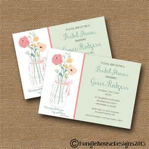 bridal shower wedding invitation diy by bunglehousedesigns