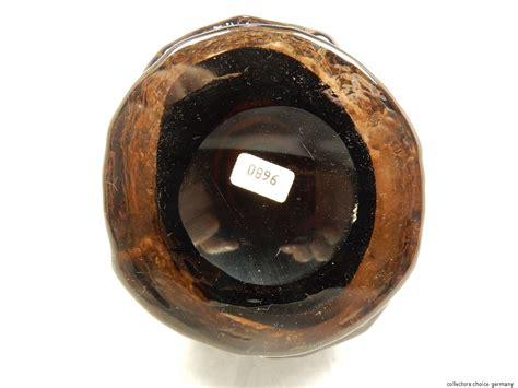 Whitefriars Glass Vase Rare Geoffrey Baxter Design Whitefriars Cinnamon Quot Hoop