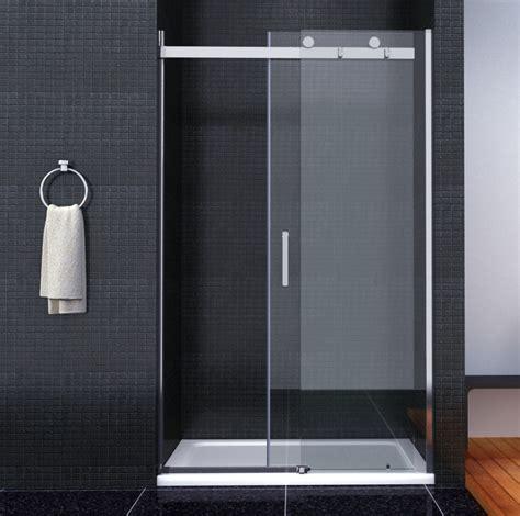 Shower Screen Sliding Door Luxury Frameless Sliding Shower Door Enclosure Easyclean Glass Screen Tray Ebay