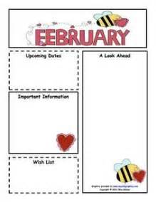 monthly preschool newsletter template the crafty preschool s day february