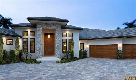 Contemporary House Plan With Photos 1 Story Southern Coastal Pool