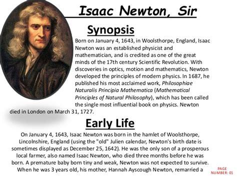 isaac newton biography with photo isaac newton