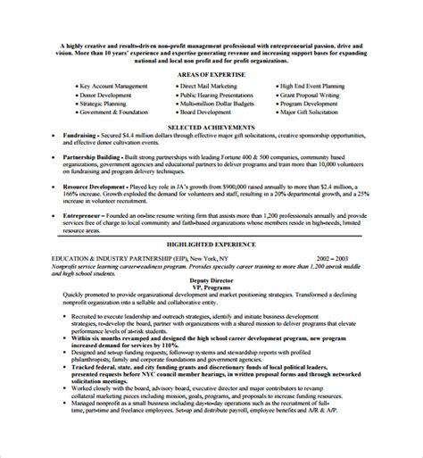non profit project template sle non profit template 12 free documents
