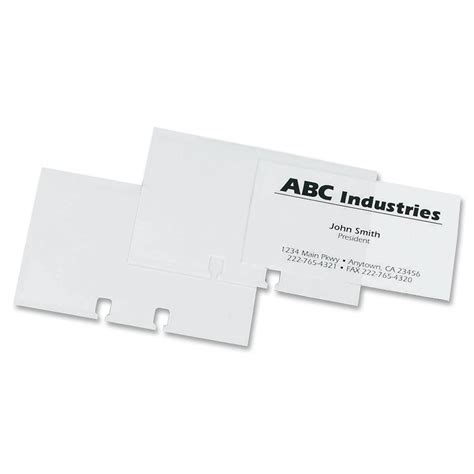 Rolodex Business Card Sleeve Refill