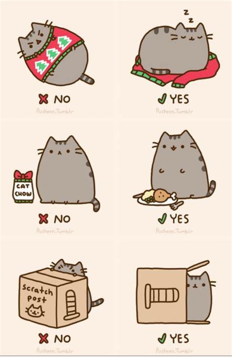 pusheen cat christmas to do list cartoon cat tumblr cute funny pinterest