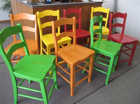 furniture how to paint wood furniture with colorful chairs how to paint wood furniture