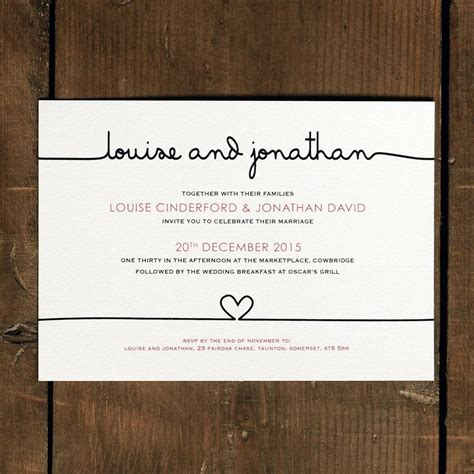 Modern Wedding Invitations by Modern Wedding Invitation Wording Theruntime
