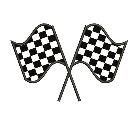Lightning Mcqueen Wall Stickers racing checkered flag applique machine embroidery digitized