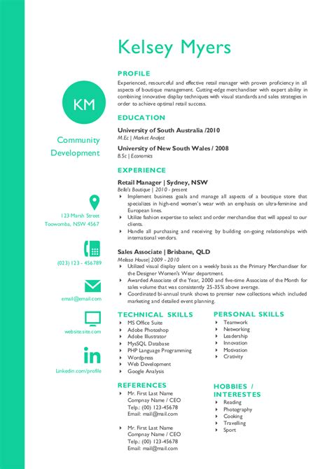 two columns initials resume resume templates on creative market