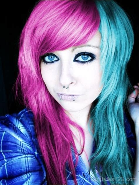 haircuts for colored pink hair emo hairstyles
