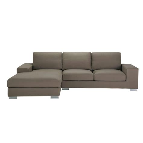 cotton couch 5 seater cotton corner sofa in taupe new york maisons du